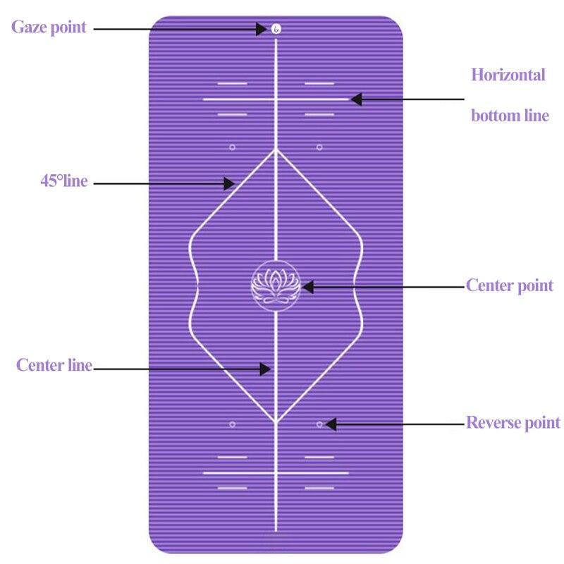 10mm Yoga Mat for Beginner with Position Line Non-slip Gym Yoga Mat Thicken Widen Men Women Yoga Exercise Dance Fitness Mat 3