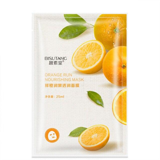 Fresh Orange Aloe Rice Pomegranate Bamboo Rose Green Tea Honey Moisturizing Water Mask 2