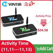 X3 pro smart tv box 4gb ram ddr4 32gb android 9.0 caixa de tv cubo s905x3 x3 2gb 16gb media player 2.4g/5g wifi 1000m 4k pk x2 pro