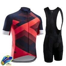 Raudax-Ropa de Ciclismo profesional para Hombre, conjunto de manga corta para Ciclismo de montaña, Maillot, 2020