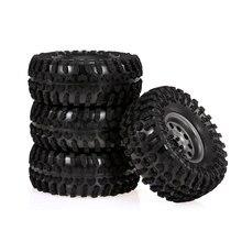 Coche teledirigido 4 Uds., 2,2 pulgadas, 130mm, Rock Crawler Wheels Con juego de cubo de Metal para 1:10 SCX10 TRX-4 HSP RGT RR10 Traxxas Axial RC Cars