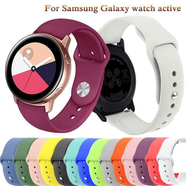 20mm Soft Silicone SmartWatch Strap For Samsung Galaxy Watch Active2 40mm44MM Wristband Bracelet For Samsung Galaxy Watch Active