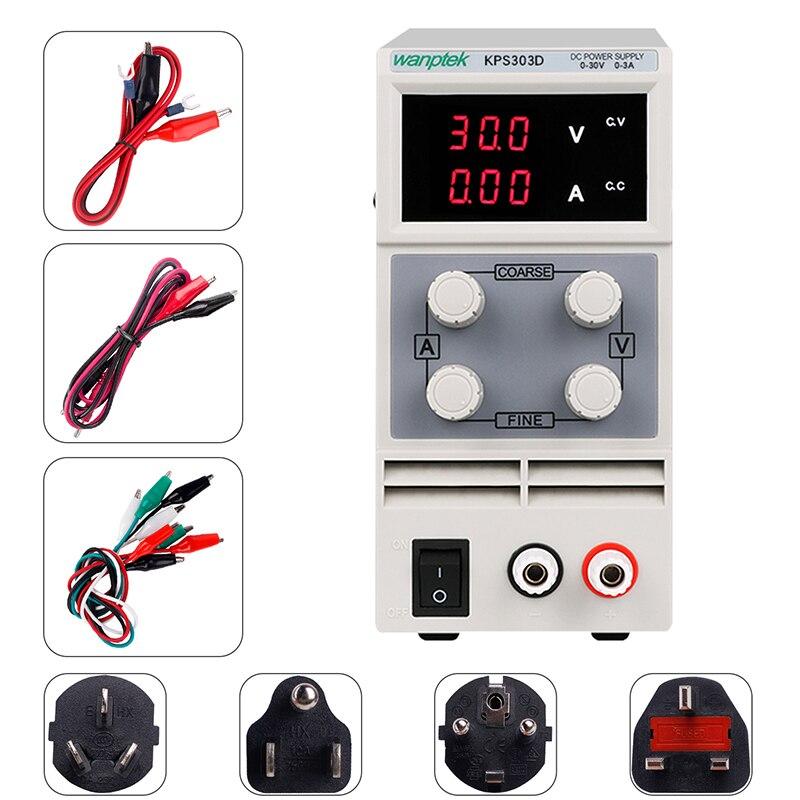 Alimentation de laboratoire 30v 3a régulateur de tension 220 v 110v unité d'alimentation à découpage réglable banc source numérique