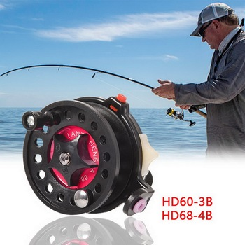 Winter Ice Fishing Reels Ball Bearings Reels Mini Fishing Reel Carp Fishing Outdoor Fish Brake Handle Front Reel Tool