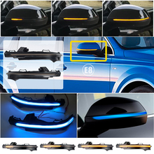 2pcs For Audi Q7 4M 2016 2017 2018 Dynamic Blinker LED Turn Signal blink Side Mirror Lights Indicator Flasher