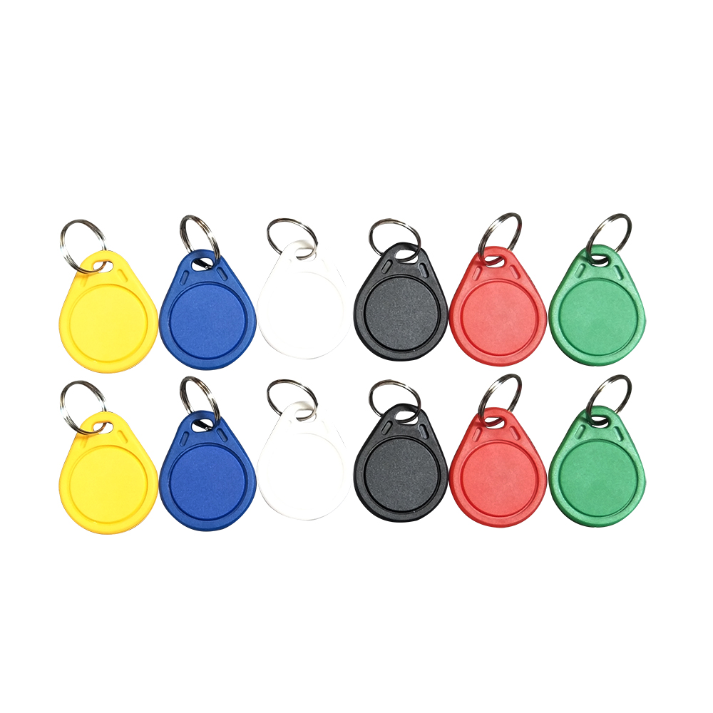 (10PCS) 13.56 Mhz Block 0 Sector Rewritable RFID M1 S50 UID Changeable Card Tag Keychain NO.3 Keyfob ISO14443A