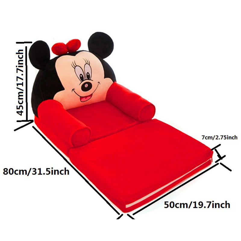 Cartoon Baby Kids Sofa Seat Child Chair Toddler Children Folding Cover with Filling Material Folding Mini Sofas Home Furnitures
