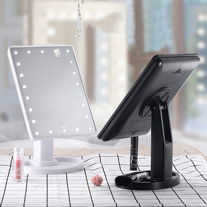 Illuminated Mirror LED Light 16/22 Lamp Makeup Mirror Light Touch Dimme Desktop Mirror LED Cosmetic Vanity 10X Magnifying Mirror