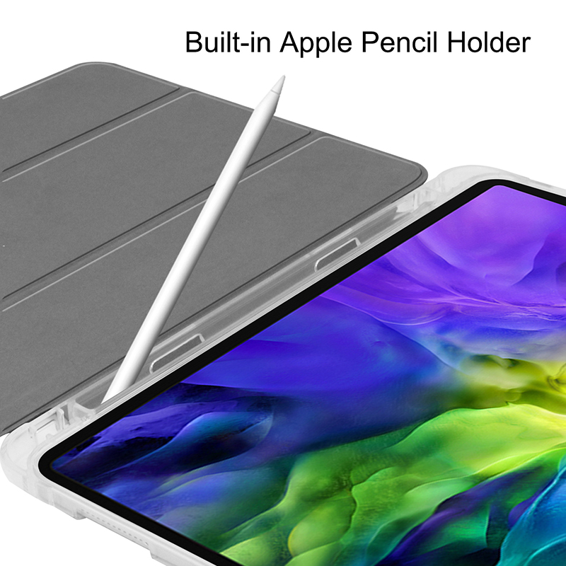 Transparent-Cover Pencil-Slot Pen-Holder 11inch iPadpro11 Case A2228/A2068/A2230 PU with for