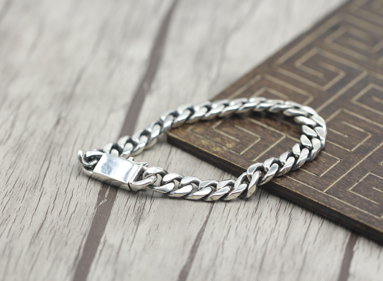 2017 s925 sterling silver new bracelet Simple and generous popular Retro braided bracelet Classic style Send a gift to love - 3