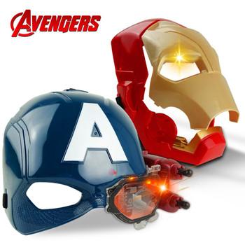 Nowy Marvel Avengers 4 Iron Man kapitan ameryka maska światło dźwięk Tony Stark kask otwarta maska dla dzieci Halloween Cosplay tanie i dobre opinie Disney Model CN (pochodzenie) Unisex Keep away from fire 18 5cm On Avengers 4-6y 7-12y 12 + y First Edition Wyroby gotowe