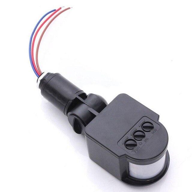 180 Draaibare Outdoor Infrarood PIR Motion Sensor Detector 110 220V Muur Lichtschakelaar energiebesparende Verlichting Schakelaar #63