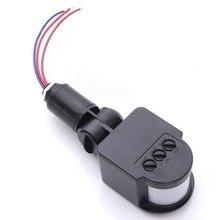 Sensor de movimiento PIR infrarrojo giratorio para exteriores, Detector de luz de pared de 180 110 V, interruptor de iluminación de ahorro de energía #63, 220