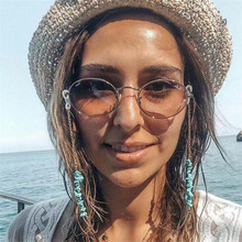 1 Pc New Natural Turquoise Eyeglass Chain Gold Glasses Lanyard Sunglass Neck Strap Holder Anti-loss