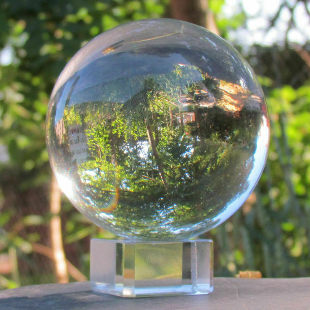 50mm Kids Toy Balls Clear Glass Lucky Crystal Ball Healing Sphere Photography Props Photo Gifts Children adult Outdoor Toys