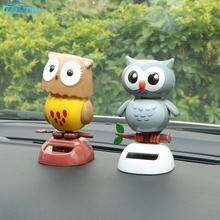 Car-Ornament Swing-Doll Dashboard-Decoration Simulation Solar-Powered Owl Birds Car-Styling