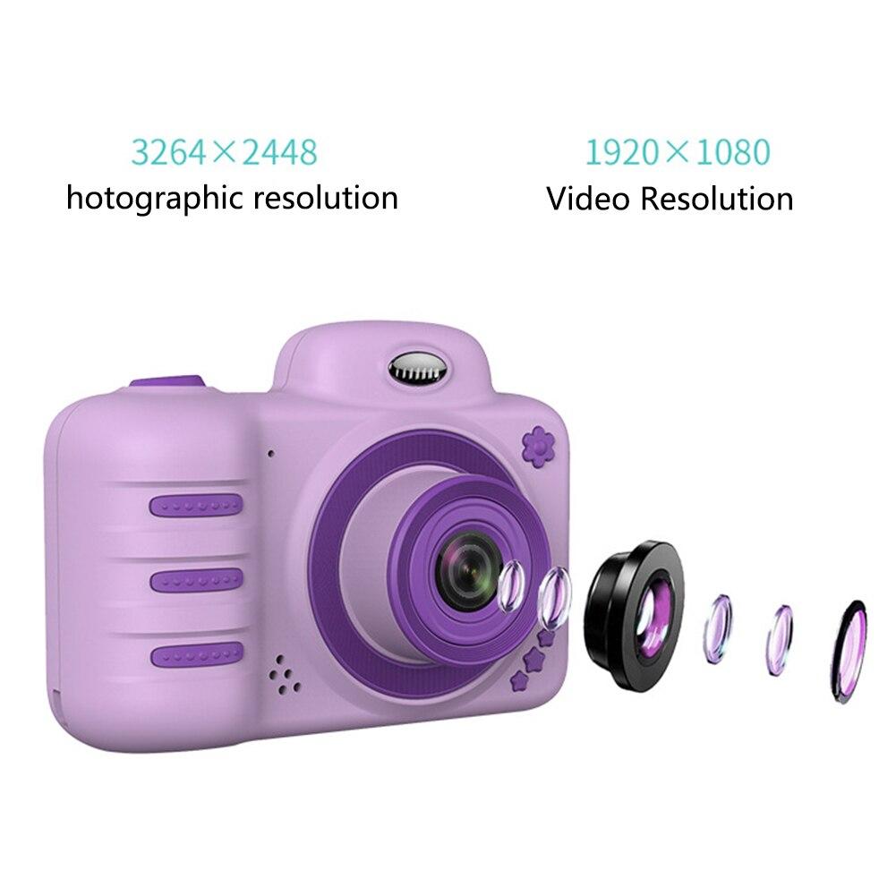 H1df3b6e775bd4dfa82e795decdb81d8dc Camera Gifts Video With Memory Card DSLR Camcorder Dual Lens Cartoon Kids Toys Shockproof Mini Digital ABS 2.4 Inch Screen