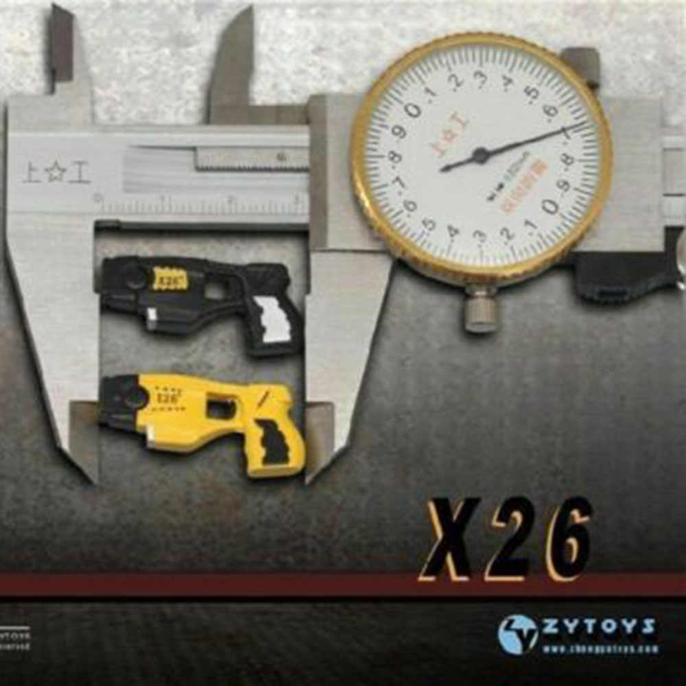 1//6 Gun Model ZY TOYS Plastic Pistol DIY Assembled Taser X26 Stun Weapon Toy