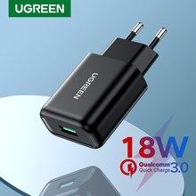 UGREEN rapide 3.0 chargeur USB QC3.0 chargeur rapide pour Xiaomi Samsung iPhone USB mur ue adaptateur chargeur de téléphone portable