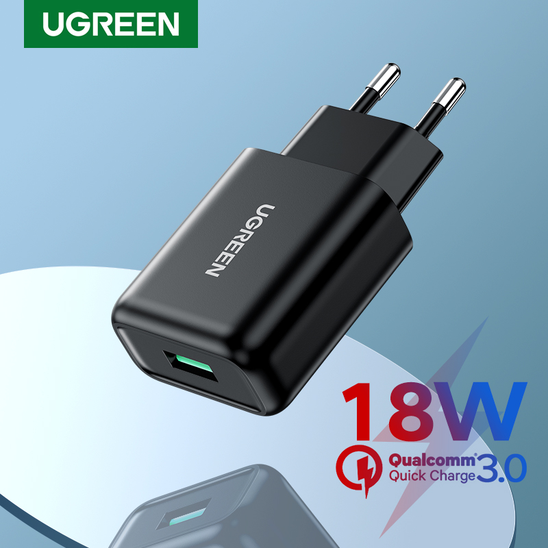 Ugreen Quick 3.0 Lading Usb Charger QC3.0 Snelle Oplader Voor Xiaomi Samsung Iphone Usb Muur Eu Adapter Mobiele Telefoon Oplader
