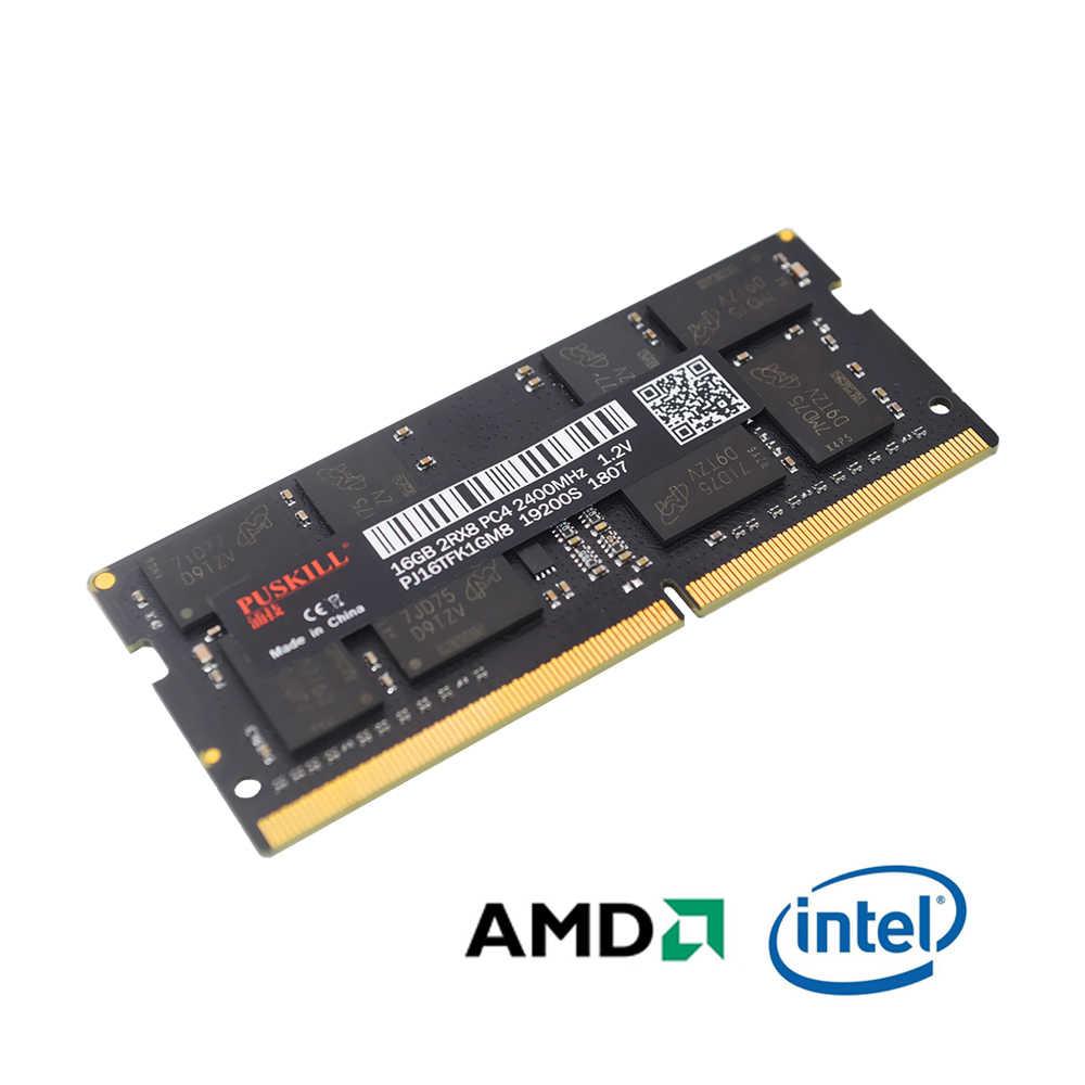 Puskill sodimm DDR4 4 ギガバイト 8 ギガバイト 16 ギガバイト 2133 2400 2666 17000 19200 21300 1.2 用ノートパソコンのラム