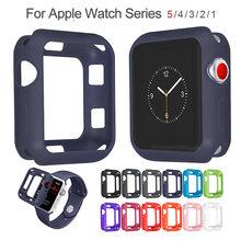 Мягкий силиконовый чехол apple watch 38 мм 40 42 44 цветной