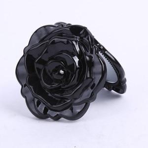Image 3 - Hot Mini Rose Flower Hand Mirror Black Folding Round Mirror Portable Girls Pocket Mirror Double Side Travel Make Up Mirror