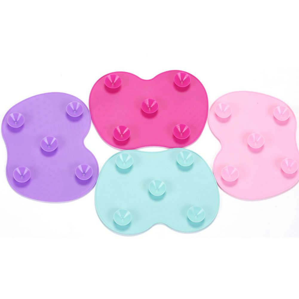 1pcs Silicone Makeup Brush Cleaner Pad Make Up Washing Brush Gel Cleaning Mat Hand Tool Foundation Makeup Brush Scrubber Board