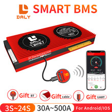 Daly Smart BMS 3S~24S UART Bluetooth 30a 40a 60a 80a 100a 120a 150a 200a 250a 300a 400a 500a for Lion LiFepo4 Battery pack