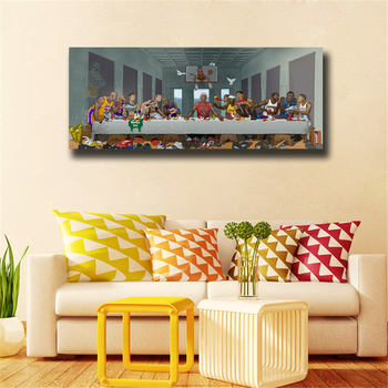Basketball Players Last Supper HD Painting Printed on Canvas 4