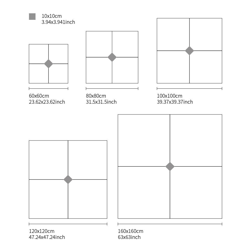Diagonal Floor stickers
