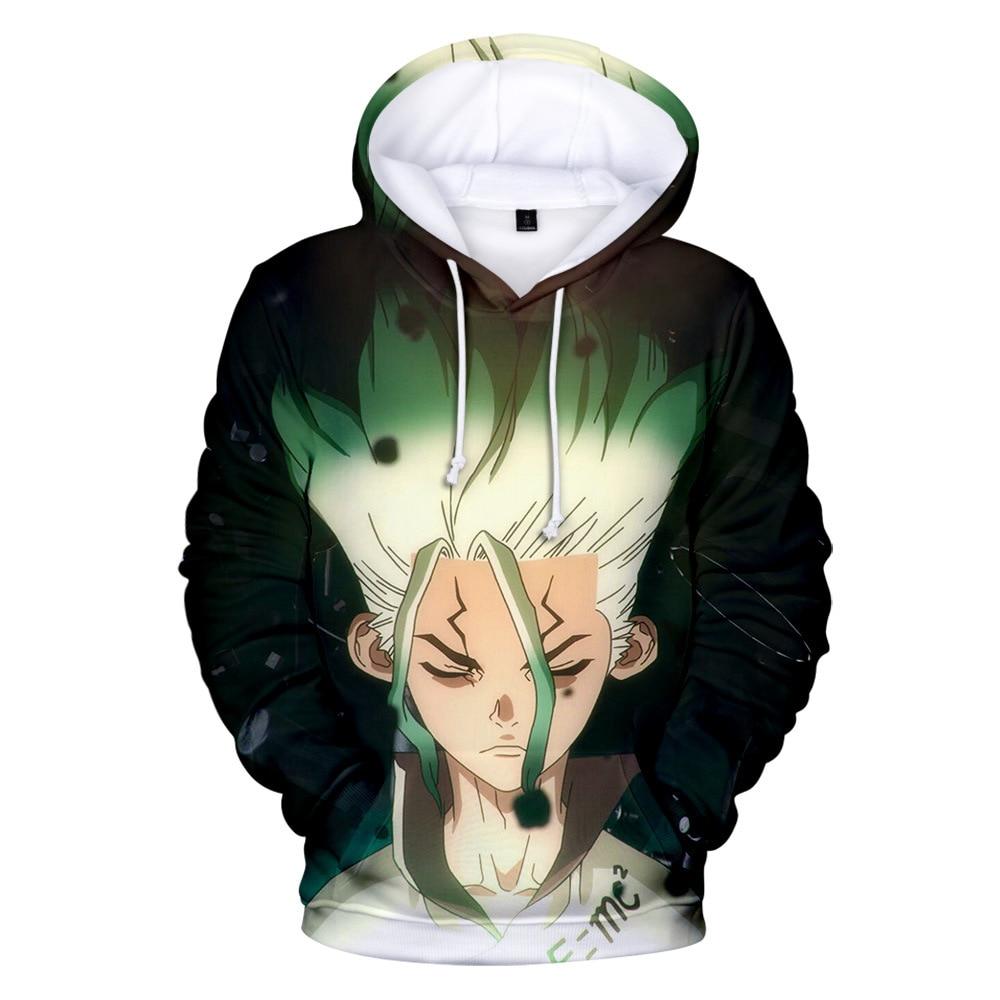 Anime Dr. Stone Senku Ishigami Costume Cosplay Hoodie 3D Printed Fashion Halloween Costumes Tshirts Sweatshirts
