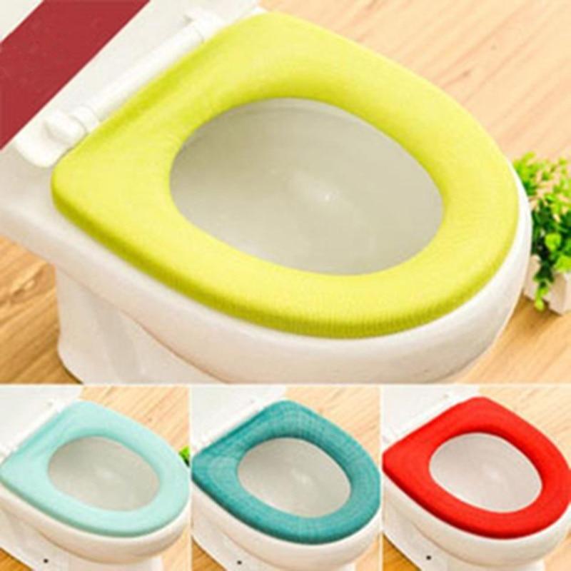 Home bathroom toilet seat washable soft comfortable warmer mat pad cushion BH