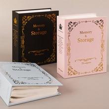 6 Polegada intersticial álbum personalizado coleção de fotos álbum 100 fotos bolsos família fotos livro de memória de aniversário de casamento