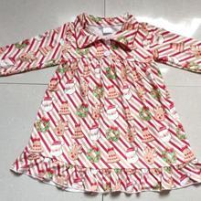 Wholesale/retail christmas style baby girls cartoon dress hi
