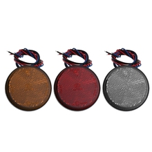 NoEnName_Null Universal Car Motorcycle Round 24 LED Marker Reflector Brake Rear Tail Light