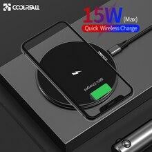 Беспроводное зарядное устройство Coolreall 15 Вт, быстрая Беспроводная зарядка Qi для iPhone 11 X XS 8 Samsung Huawei P30 Xiaomi