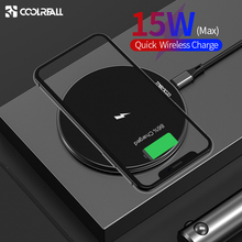 Coolreall 15W wireless charger, Qi fast wireless charging For iPhone 11 X XS 8 Samsung Huawei P30 Xiaomi
