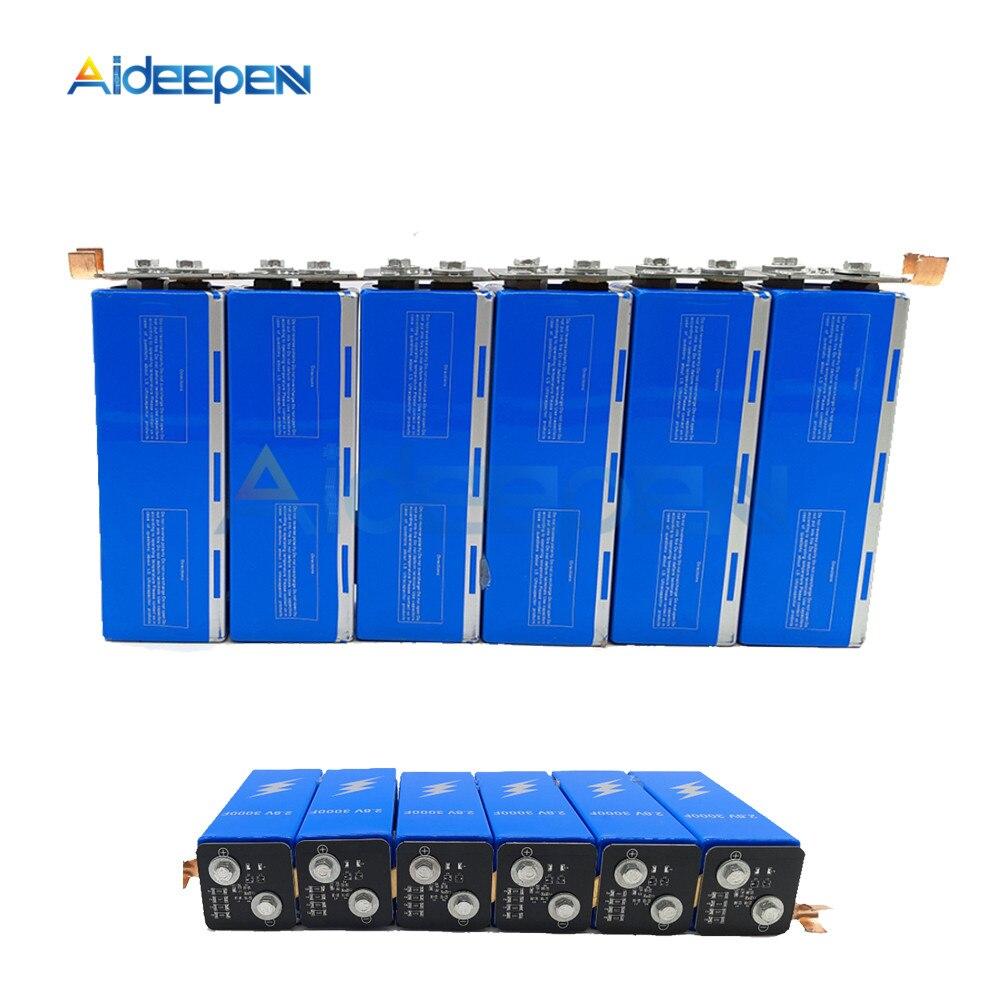 Super Farad Capacitors 6PCS/Set 16.8V 500F Super Capacitor With Protection Board Single Row 2.8V 3000F Farad Capacitor For Car