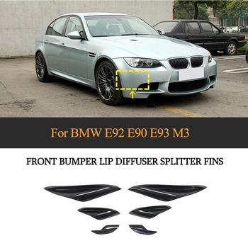 ABS Front Bumper Splitters Fins For BMW 3 Series E92 E90 90 E93 M3 2015 - 2012 Front Body Bumper Wind Knife Splitters Fins image