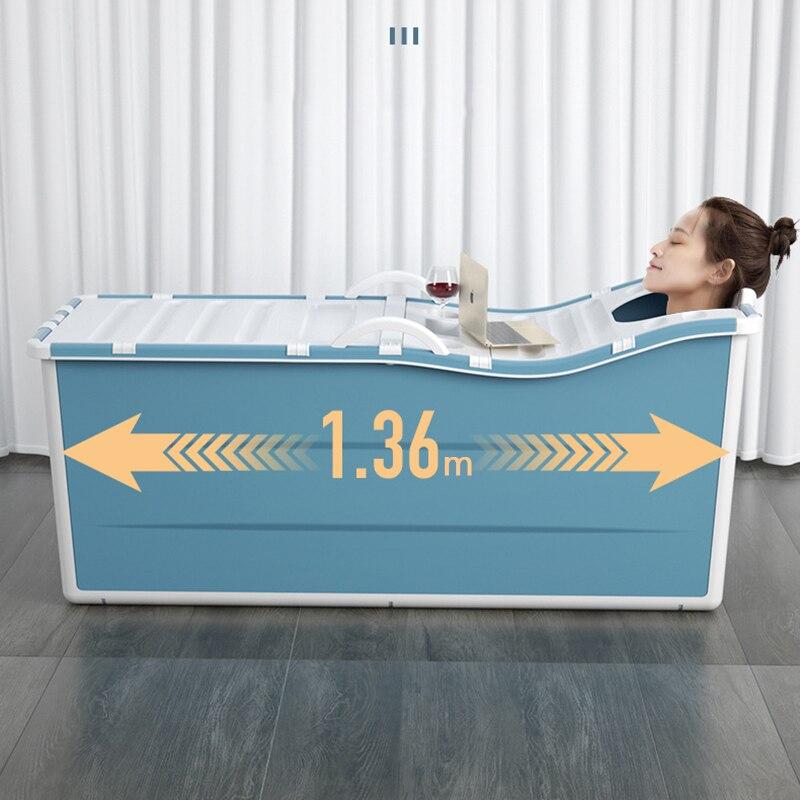 Adult Folding Bathtub Household Bath Barrel Portable Bath Bucket Collapsible Baignoire Large Thick Bath Tub Whole Body Bathing