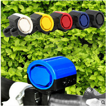 Bike Bell Electronic Horn Multi-color Selectable Mountain Bike Bicycle Bell-Battery Dian Zi Ling Speaker Accessory