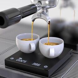 Timemore, báscula de café básica negra, báscula digital inteligente para café, báscula de café por goteo electrónica con Timer2kg