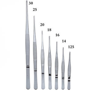 Medical-Tweezers Forceps Stainless-Steel Long Anti-Iodine Elbow Straight 430 Thicken