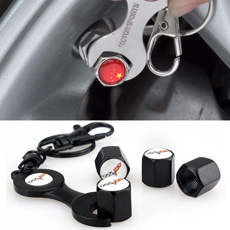 Car Styling Auto Wheel Wrench Valve Stem Cap For Chevrolet Corvette C6 C7 Stingray 427 GRAND SPORT Z06 ZR1 Auto Accessories