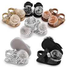 Newborn Infant Baby Girl Fashion Leopard Sandals Sneakers Children Summer Clogs Toddler Soft Crib Walkers Shoes 0-18M(China)
