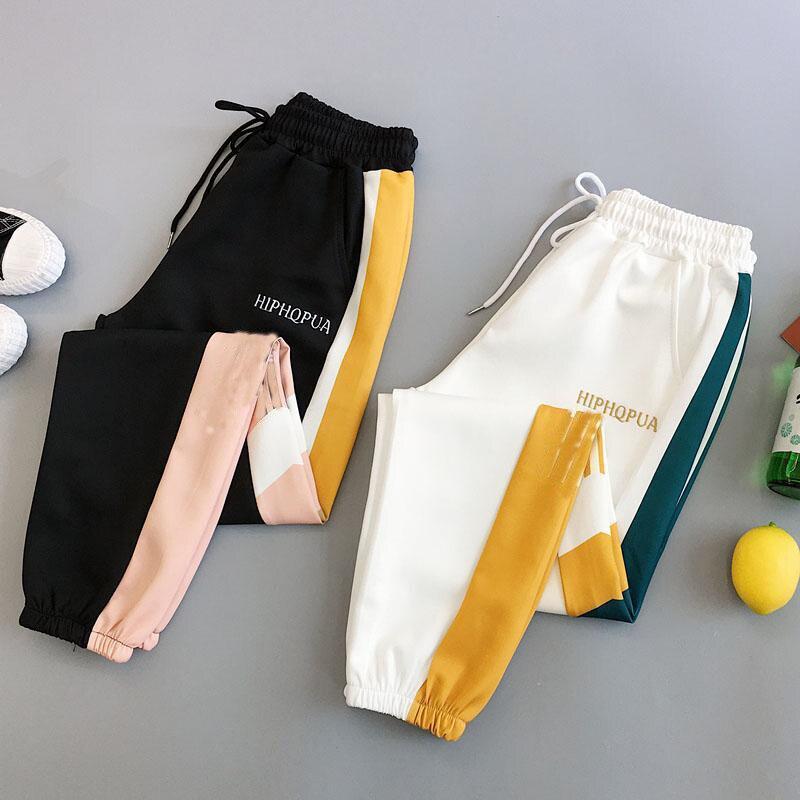 New Sports Pants Women's Harem Pants Harajuku Streetwear Nine Pants Korean Version Of The Loose Thin Section Casual Pants