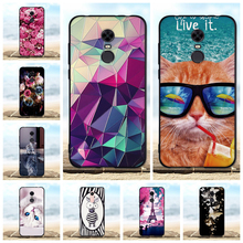 FOR Bag Xiaomi Redmi 5 Plus / 5+ Case Silicone Luxury TPU 3D Black Cover For 5plus Cases