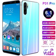 P31 Pro 6.1 Inch 4G Smartphone 4GB RAM 64GB ROM Full Screen Mobile Phone Fingerprint & Face Recognition Unlock Cell Phone(China)
