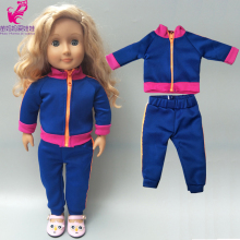 17 inch new born baby doll clothes coat 18 american pants casual set